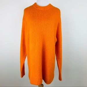 H&M Orange Oversized Sweater sz Small